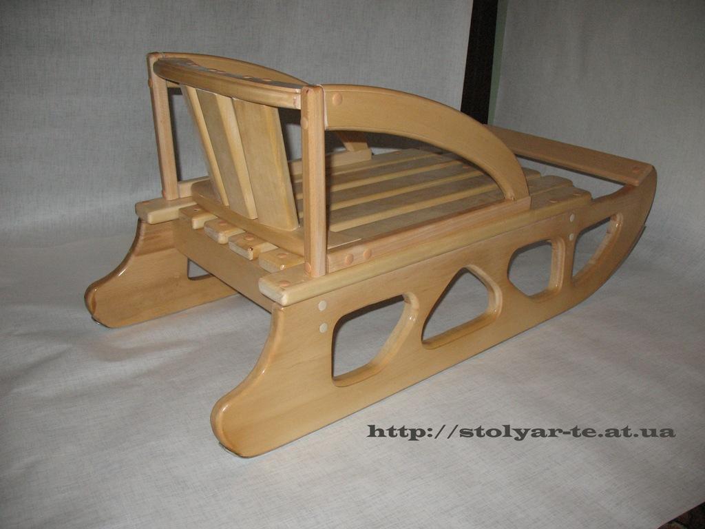 Как сделать деревянные санки своими руками фото